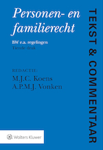 Tekst & Commentaar Personen- en familierecht (ISBN 9789013147100)