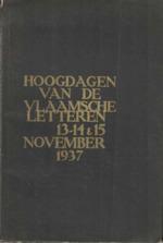 Hoogdagen van de Vlaamsche letteren, 13-14 en 15 november 1937 - Raymond Herreman