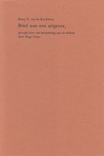 Brief aan een uitgever - Remy C. van de Kerckhove, Hugo Claus, Gert-Jan Hemmink