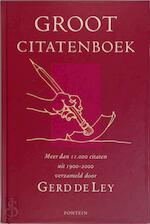 Groot Citatenboek - G. de Ley (ISBN 9789026117695)
