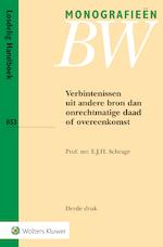 Verbintenissen uit andere bron dan onrechtmatige daad of overeenkomst - E.J.H. Schrage (ISBN 9789013111743)