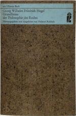 Grundlinien der Philosophie des Rechts - Georg Wilhelm Friedrich Hegel (ISBN 9783548029290)