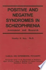 Positive and Negative Syndromes in Schizophrenia - Stanley R. Kay (ISBN 9780876306086)