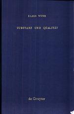 Substanz und Qualität - Klaus Wurm (ISBN 9783110018998)