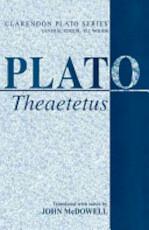 Theaetetus - Plato (ISBN 9780198720836)