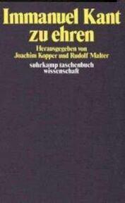 Immanuel Kant zu ehren. - Joachim Kopper (ISBN 3518076612)