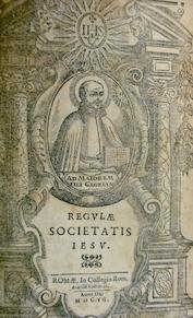 Regulae Societatis Iesu [bound with] Canones congregationum generalium societatis Jesu