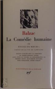 La Comédie humaine Tome IX - Balzac (ISBN 2070108694)