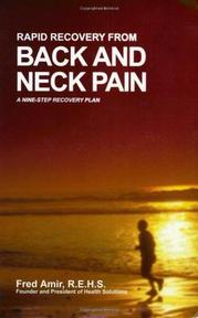 Rapid Recovery from Back and Neck Pain - Fred Amir (ISBN 9780966982619)