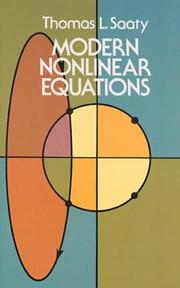 Modern Nonlinear Equations - Thomas L. Saaty (ISBN 9780486642321)
