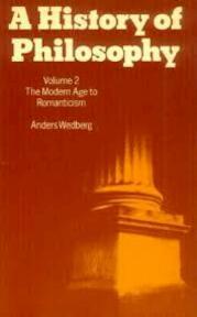 A history of philosophy - Anders Wedberg (ISBN 9780198246923)