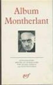 Album Montherlant - Montherlant