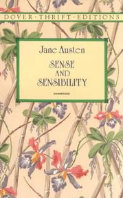 Sense and Sensibility - Jane Austen (ISBN 9780486290492)