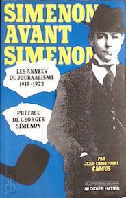 Simenon avant Simenon - Jean-Christophe Camus (ISBN 9782870886687)