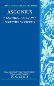 Commentaries on Speeches of Cicero - Quintus Asconius Pedianus, R. G. Lewis (ISBN 9780199290529)