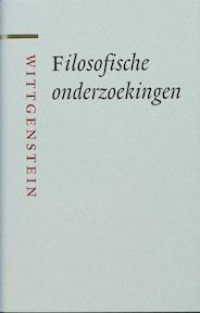 Filosofische onderzoekingen - L. Wittgenstein (ISBN 9789085062882)