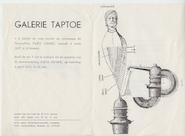 Expositie Paul Snoek - Galerie Taptoe 1957 - SNOEK, Paul