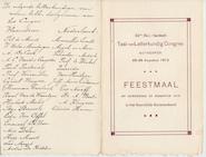 Dischkaart - 32ste Nederlandsch Taal- en Letterkundig Congres Antwerpen 1912 - QUERIDO, Is. [e.a.]
