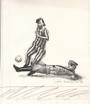 Jan Vanriet- Originele tekening - cartoon - VANRIET, Jan