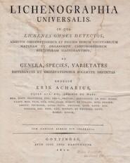 Lichenographia universalis. In qua lichenes omnes detectos [...] ad genera, species, varietates [...] redegit - Erik Acharius