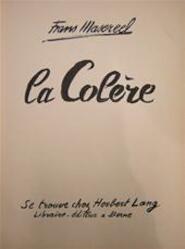 La Colère - Frans [ills.] Masereel