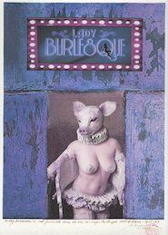 Patrick Conrad - Molly Madison's farewell show at the Las Vegas Burlesque Hall of Fame, april 1969 - Originele collage - CONRAD, Patrick