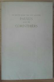 De eerste brief van den Apostel Paulus aan de Corinthiërs - N/a
