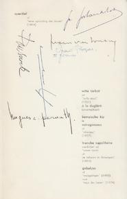 Spijskaart - Menukaart : feestmaal 100 Vlaamse schrijvers - PERNATH, Hugues, SNOEK, Paul, e.a.
