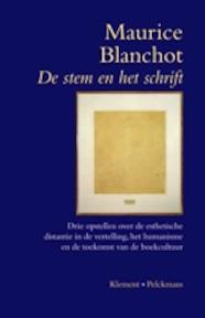 De stem en het schrift - Maurice Balnchot, Arthur Cools (ISBN 9789028962682)