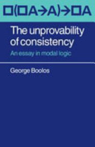 The Unprovability of Consistency - George Boolos (ISBN 9780521218795)