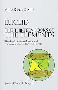 The Thirteen Books of the Elements, Vol.3 - Euclid (ISBN 9780486600901)