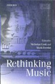 Rethinking Music - Nicholas Cook (ISBN 9780198790044)