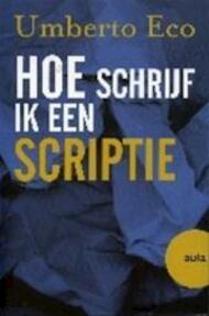 Hoe schrijf ik een scriptie - Umberto Eco, Yond Boeke (ISBN 9789057137273)
