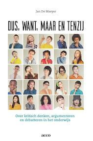 Dus, want, maar en tenzij - Jan De Maeyer (ISBN 9789462927070)