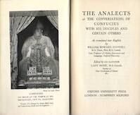 The Analects - Confucius, William Edward Soothill