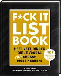 F*CK-it list - Jacob & Haver (ISBN 9789463332019)