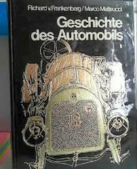 Geschichte des Automobils - Richard Von Frankenberg, Marco Matteucci (ISBN 9783800301003)
