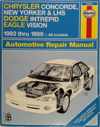 Chrysler LH Series Automotive Repair Manual: Models Covered: Chrysler New Yorker, LHS and Concorde, Dodge Intrepid and Eagle Vision 1993 Through 1996 (ISBN 1563921723)