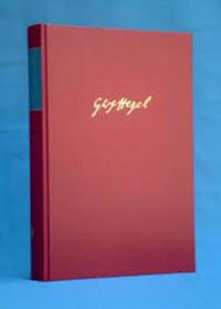 Gesammelte werke bd.1 Frühe Schriften - Georg Wilhelm Friedrich Hegel (ISBN 9783787302673)