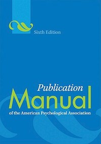 Publication manual of the American Psychological Association - American Psychological Association (ISBN 9781433805615)