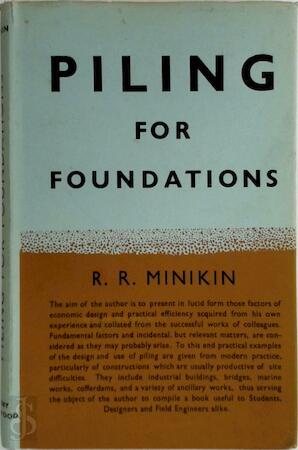 Piling for foundations - R.R. Minikin