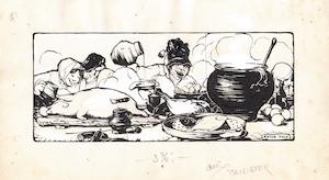 """Anton PIECK – """"..en toen is er dan gegeten en gedronken lijk op een feest van Jupiter"""" - PIECK, Anton"""