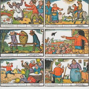 Tijl Uilenspiegel - 12 Liebig chromo's - TIMMERMANS, Felix