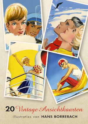 20 Vintage Ansichtkaarten - Hans Borrebach