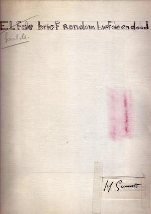 Laatste brief rondom liefde en dood - Jef Geeraerts