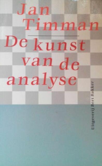 De kunst van de analyse - Jan Timman