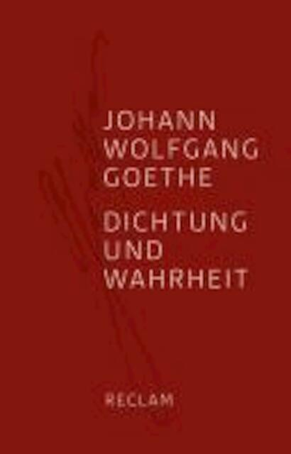 dichtung und wahrheit johann wolfgang goethe isbn 9783150108529 de slegte. Black Bedroom Furniture Sets. Home Design Ideas