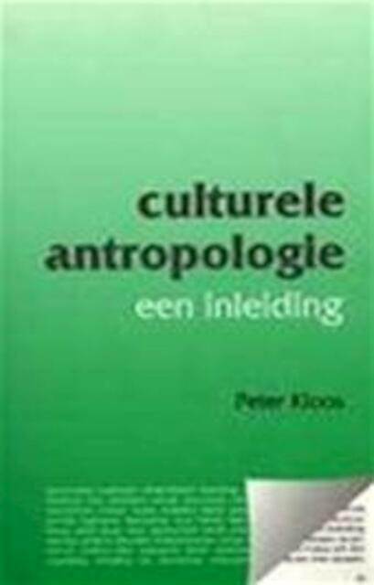 Culturele antropologie - Peter Kloos