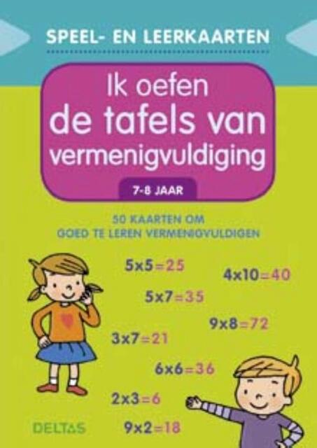 Speel- en leerkaarten - Ik oefen de tafels van vermenigvuldiging (7-8 j.) - ZNU