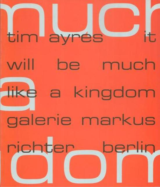 Tim Ayres - It will be much like a kingdom -
